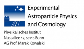 Astroparticle Physics and Cosmology Research Group Prof. Dr. Marek Kowalski